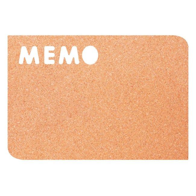 Bacheca in sughero memo marrone 41.2x28.4 cm - 1