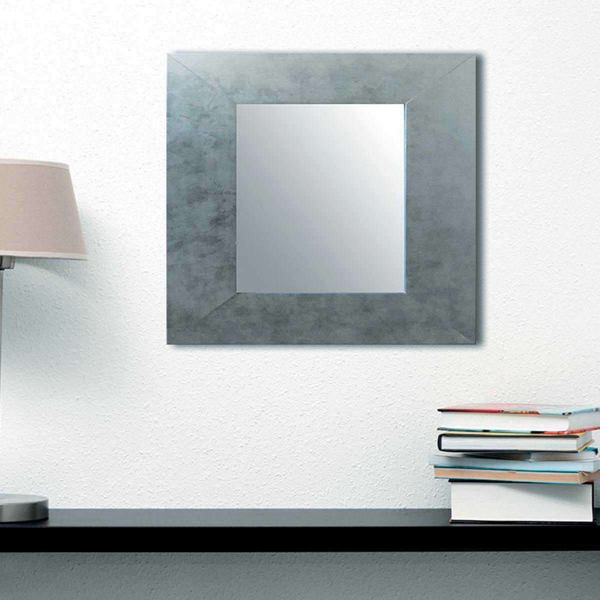 Specchio a parete rettangolare Osakan argento 60x90 cm - 3