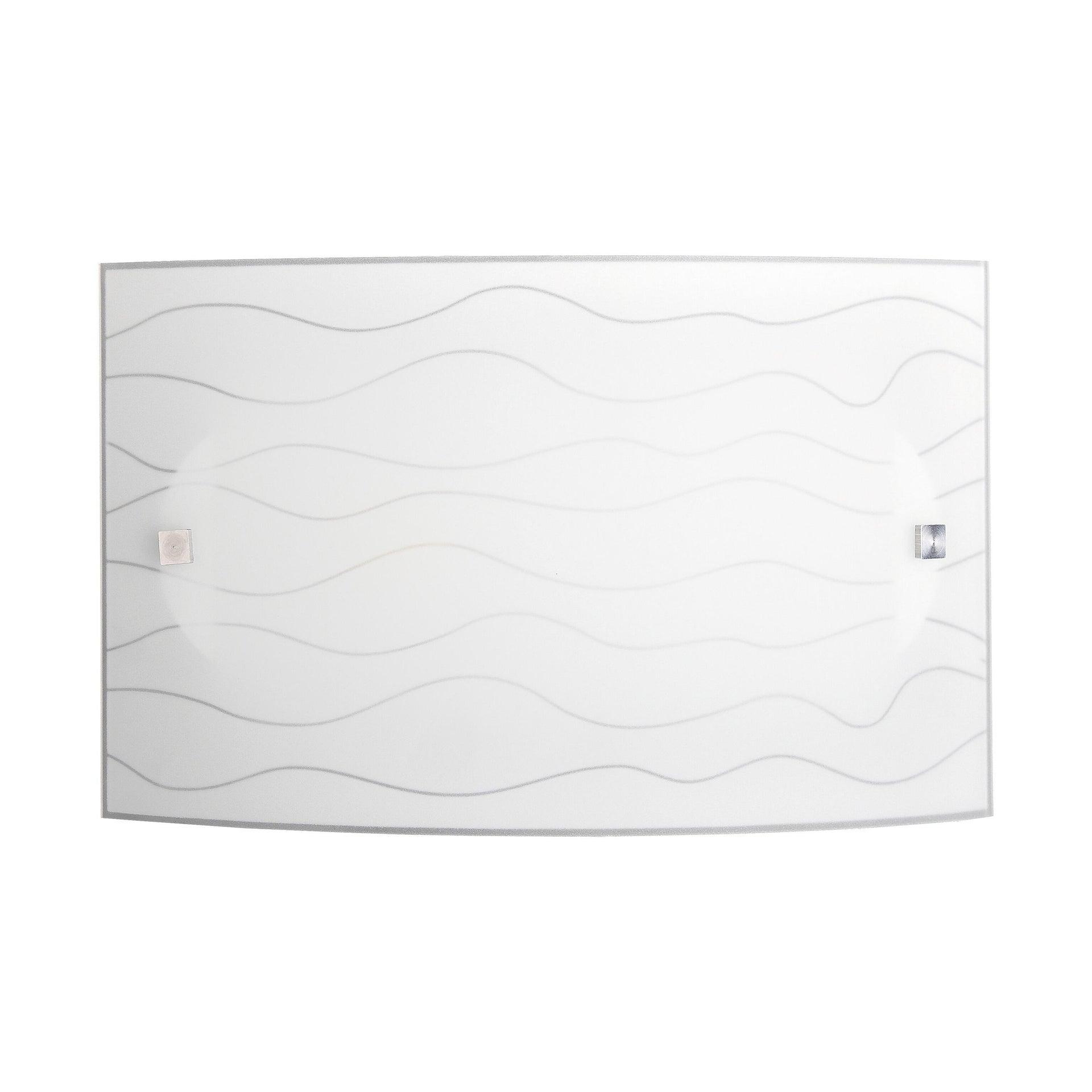 Applique classico Nina bianco, in vetro, 32x20 cm, - 4