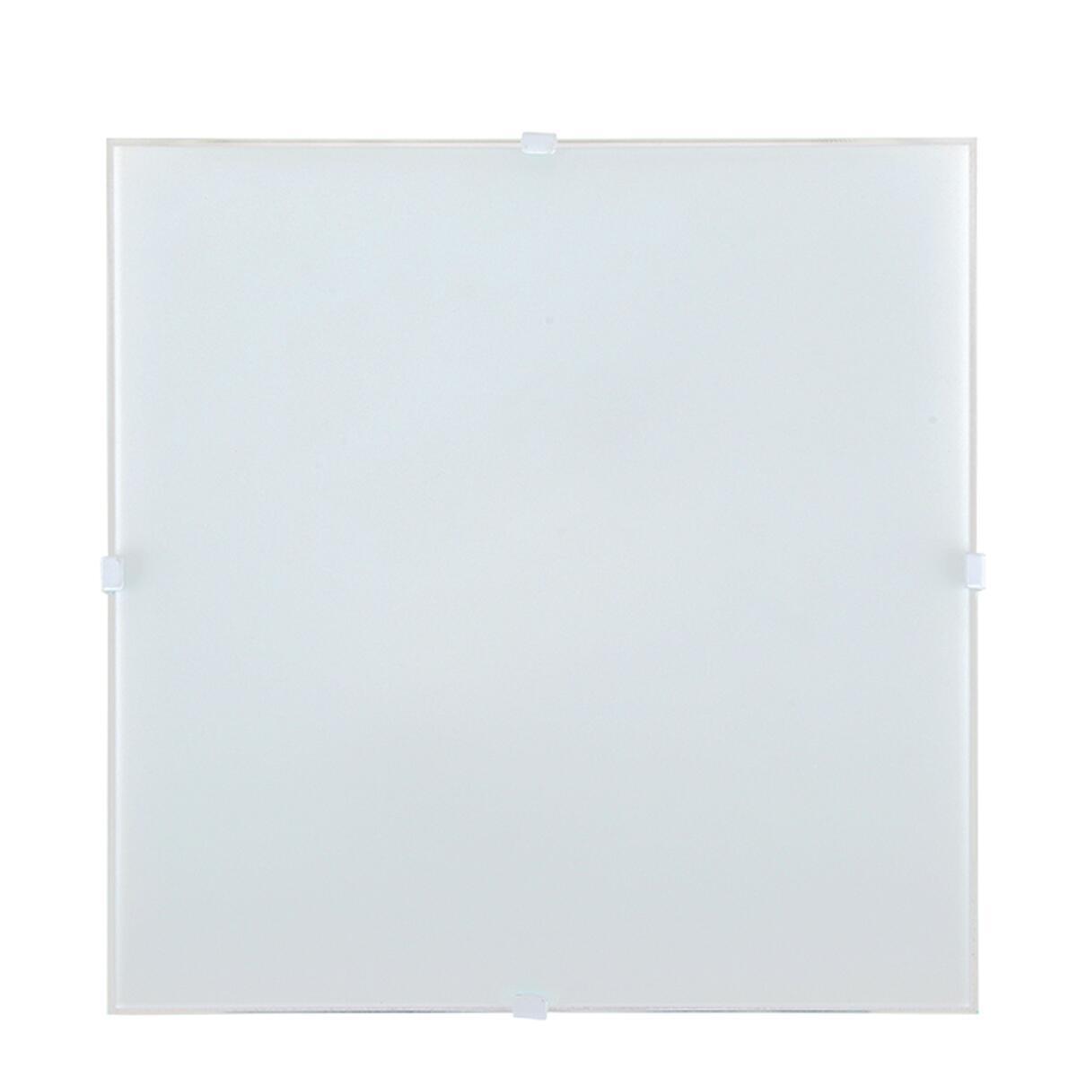 Applique classico Brixen bianco, in vetro, 25.8x25.8 cm, - 1