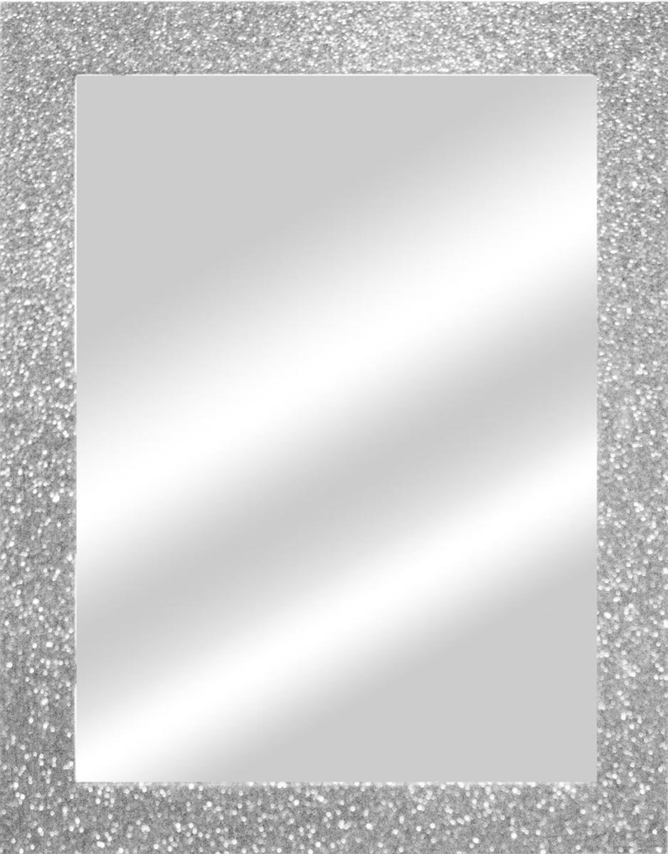Specchio a parete rettangolare Glitterato argento 60x90 cm - 2