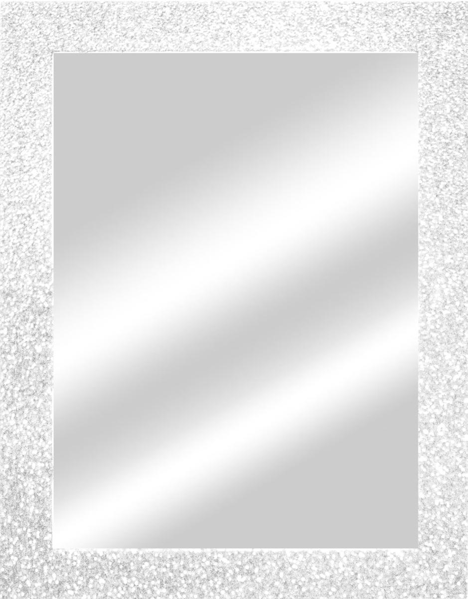 Specchio a parete rettangolare Glitterata bianco 60x90 cm - 4