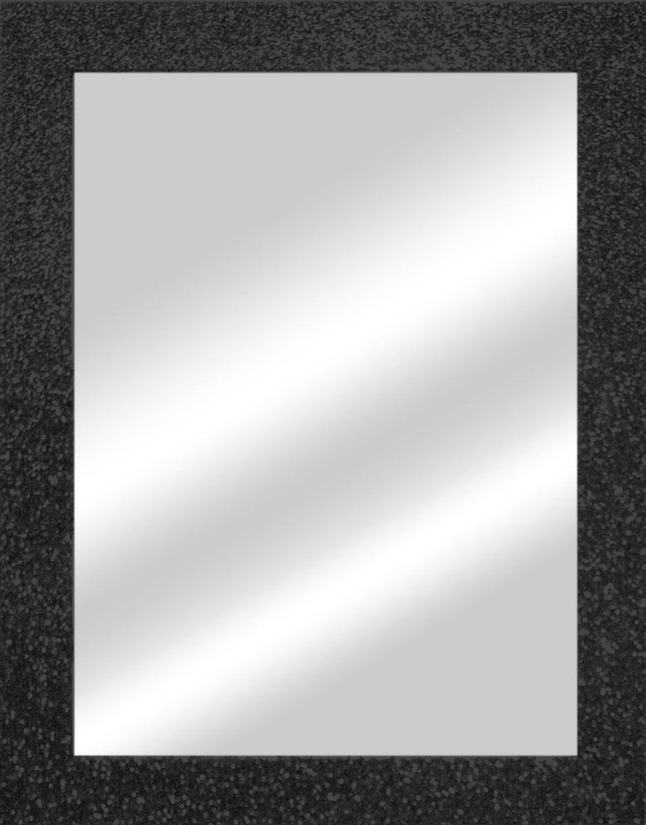 Specchio a parete rettangolare Glitterata nero 60x90 cm - 4
