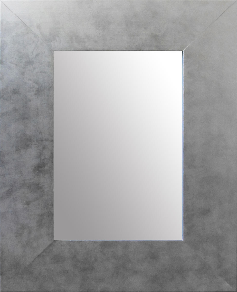 Specchio a parete rettangolare Osakan argento 60x90 cm - 4