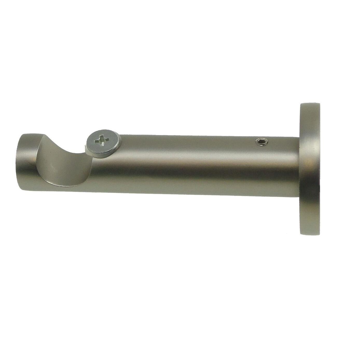 Supporto singolo aperto Ø16mm Stelvio in metallo acciaio satinato 9cm, 2 pz
