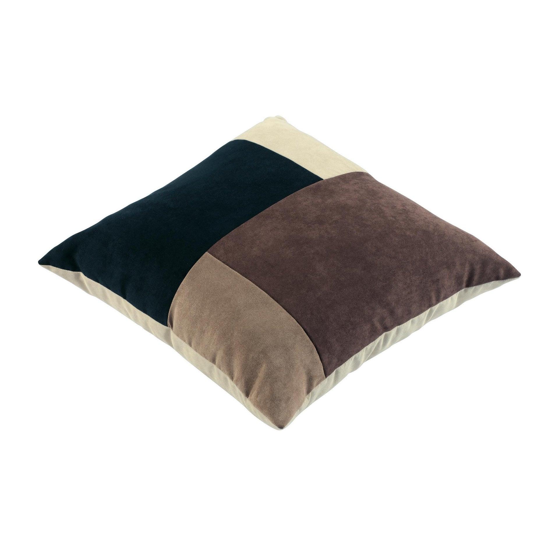 Cuscino Patchwork marrone 60x60 cm - 2