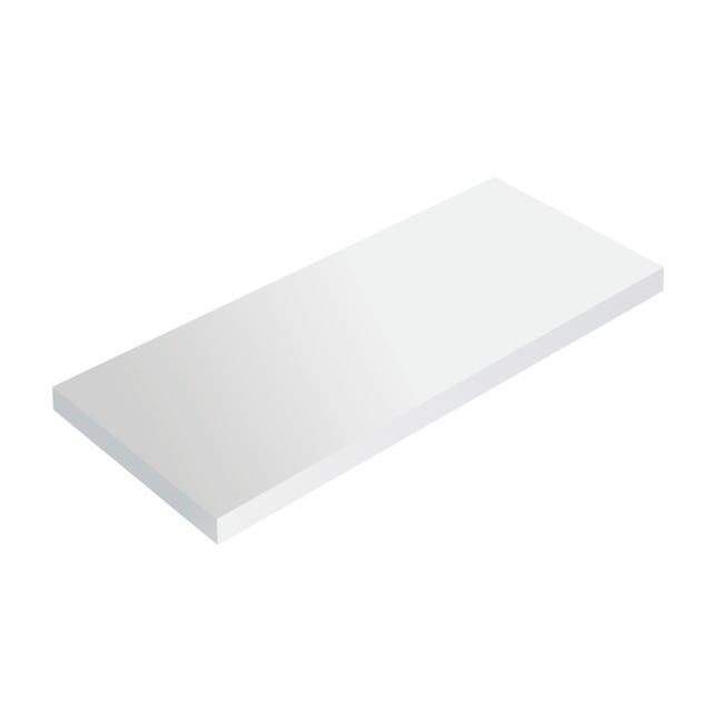 Mensola Spaceo L 56 x P 20 cm, Sp 1.8 cm bianco - 1