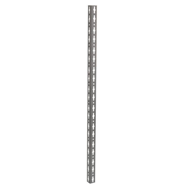 Montante in metallo angolare L 4 x H 150 x Sp 4 cm grigio / argento martellato - 1