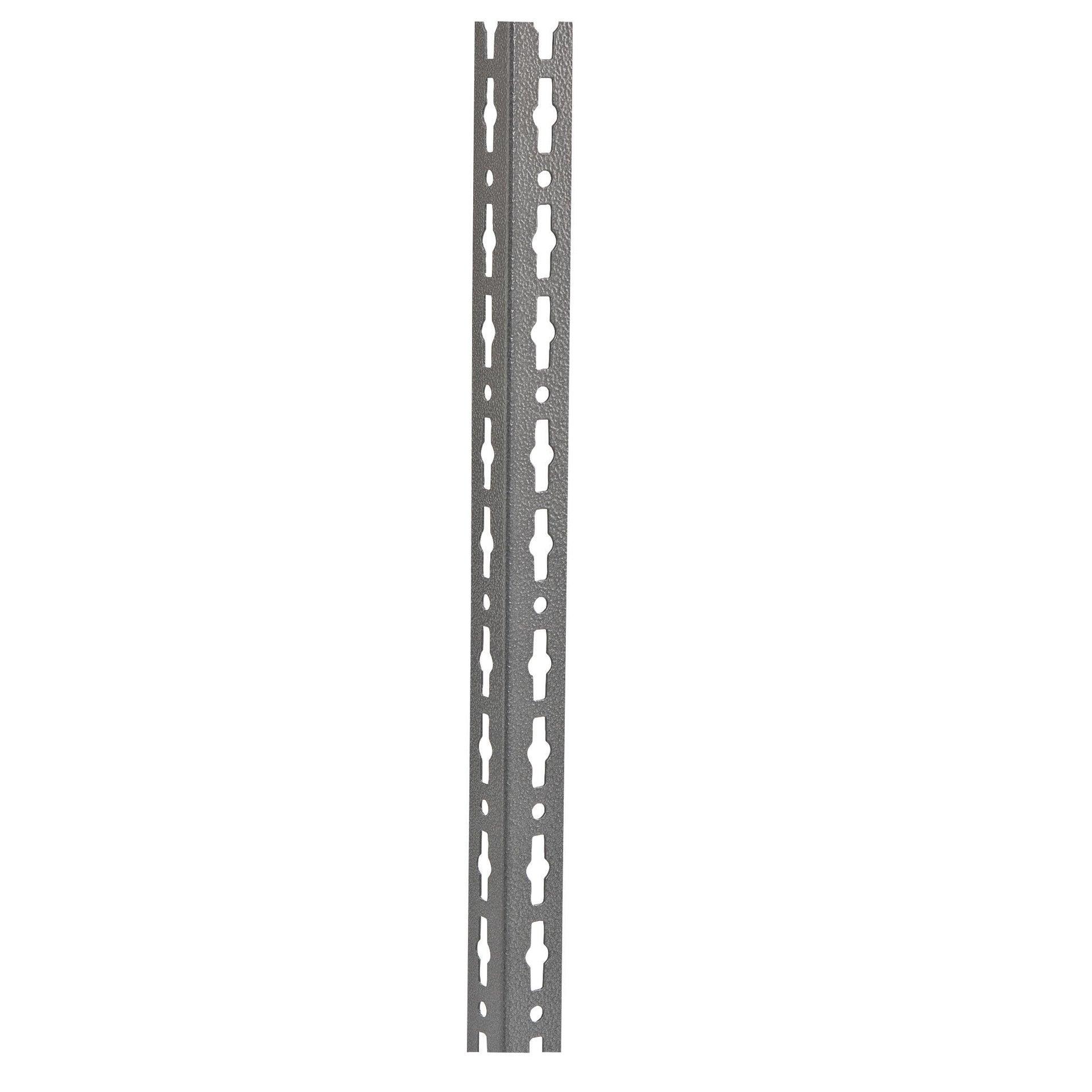 Montante in metallo angolare L 4 x H 150 x Sp 4 cm grigio / argento martellato - 2