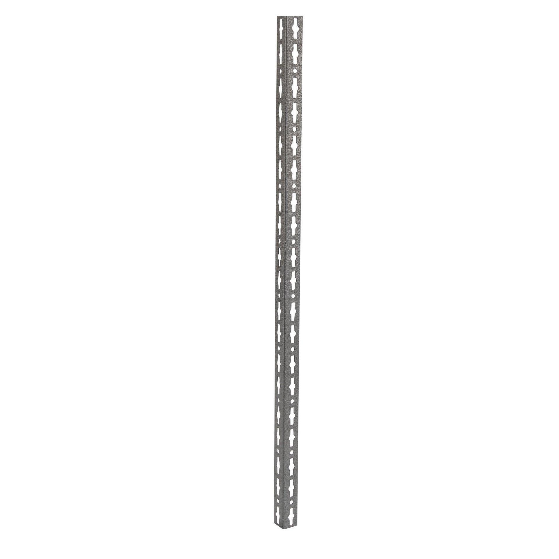 Montante in metallo angolare L 4 x H 200 x Sp 4 cm grigio / argento martellato - 1