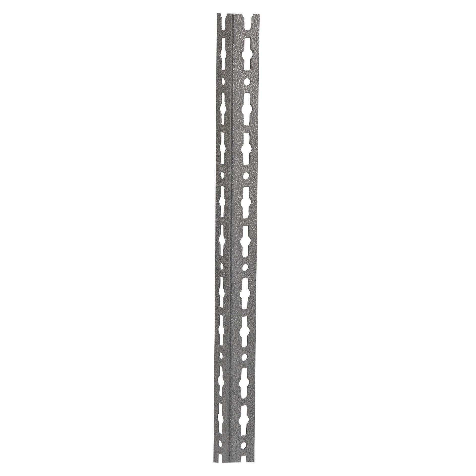 Montante in metallo angolare L 4 x H 200 x Sp 4 cm grigio / argento martellato - 2