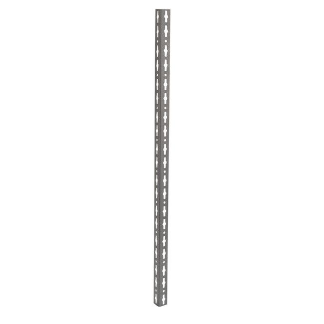 Montante in metallo angolare L 4 x H 259.8 x Sp 4 cm grigio / argento martellato - 1