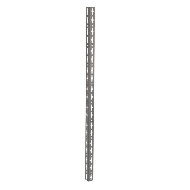 Montante in metallo angolare L 4 x H 300 x Sp 4 cm grigio / argento martellato - 1