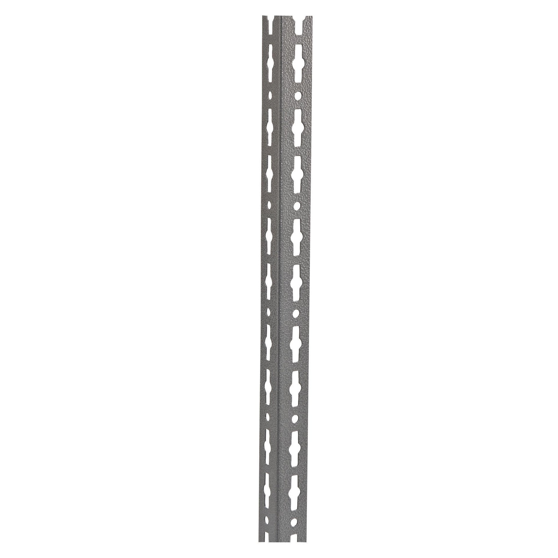 Montante in metallo angolare L 4 x H 300 x Sp 4 cm grigio / argento martellato - 2