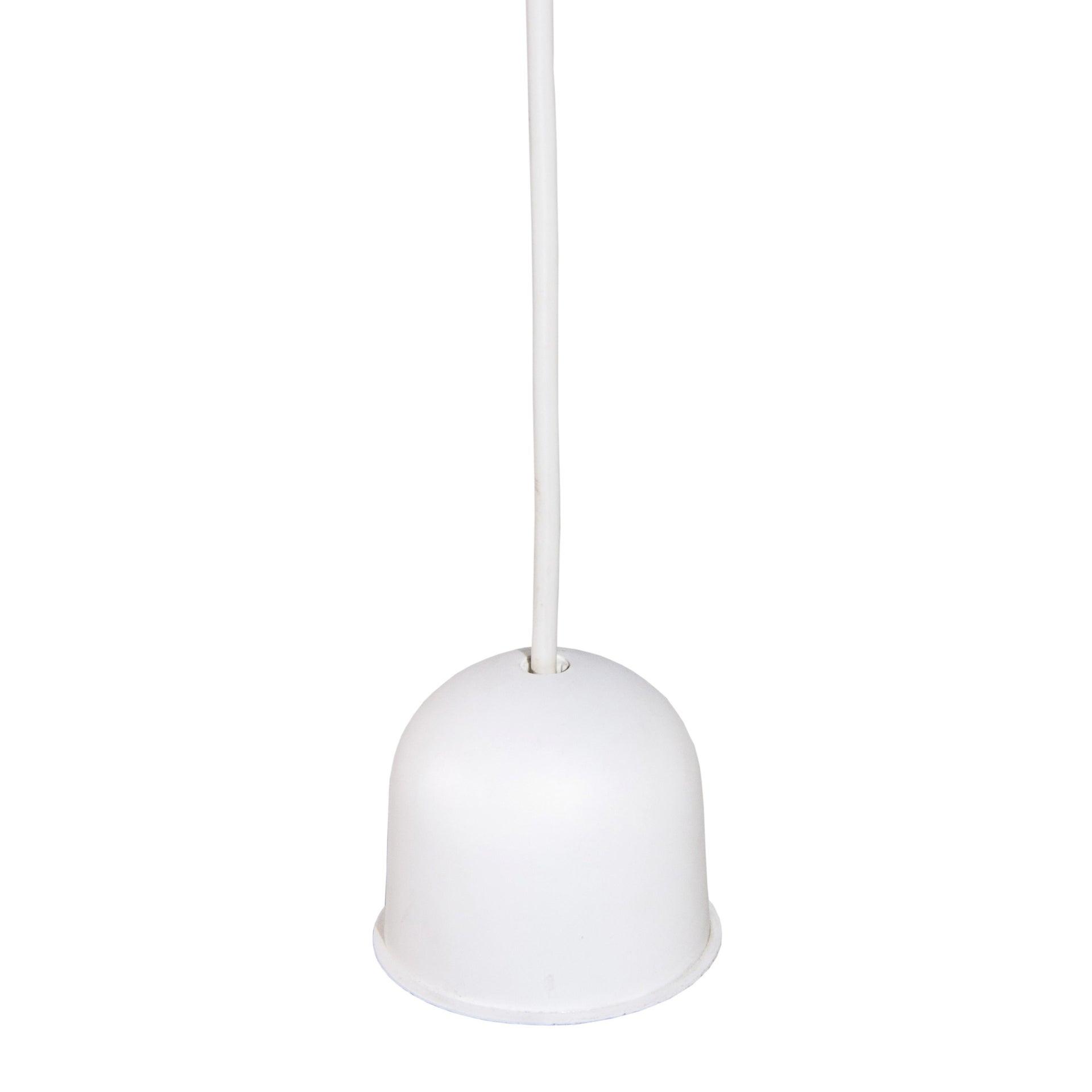 Lampadario Moderno Doppio Sbieco bianco, canna di fucile in tessuto, D. 40 cm - 5