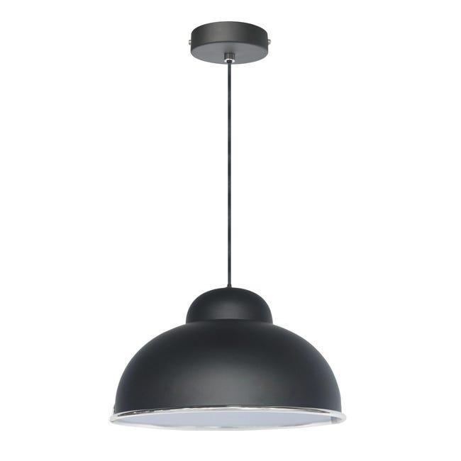 Lampadario Industriale Farell nero in metallo, D. 31 cm, INSPIRE - 1