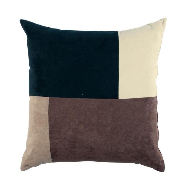 Cuscino Patchwork marrone 60x60 cm - 1