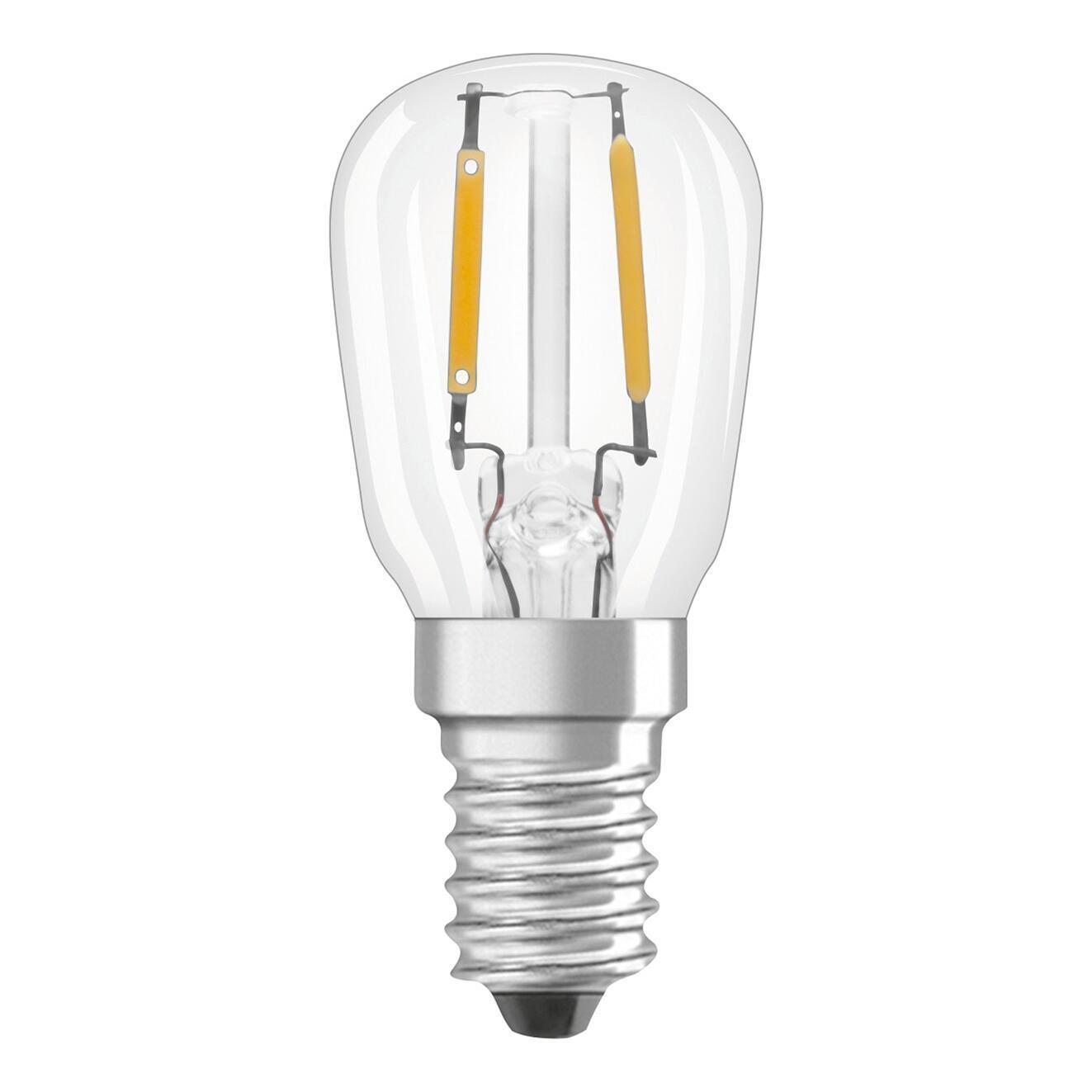 Lampadina LED filamento, E14, Bulbo, Trasparente, Luce calda, 1.3W=110LM (equiv 10 W), 320° , OSRAM - 1