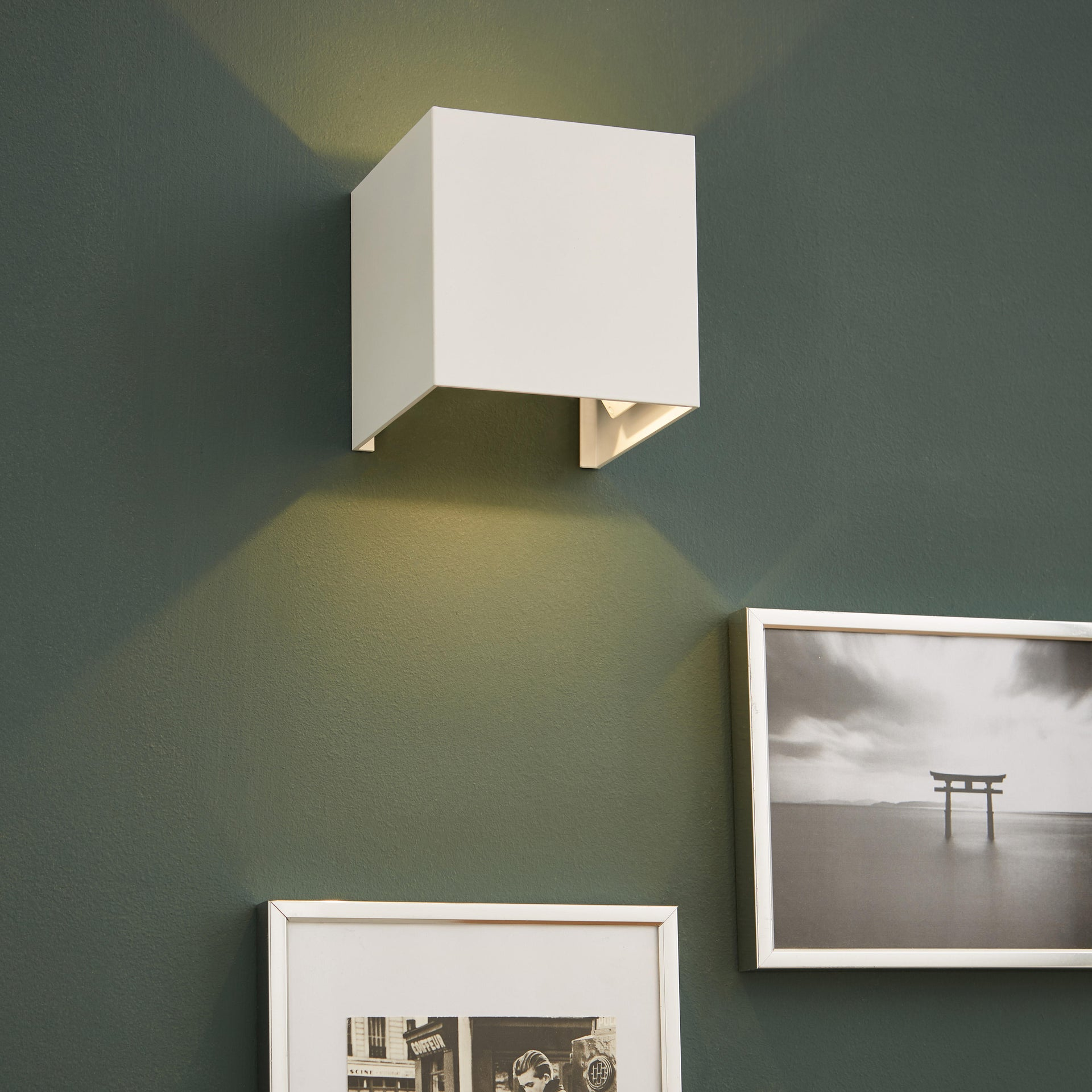 Applique design Kubbo LED integrato bianco, in alluminio, D. 10.0 cm 10.0x10.0 cm, INSPIRE - 1