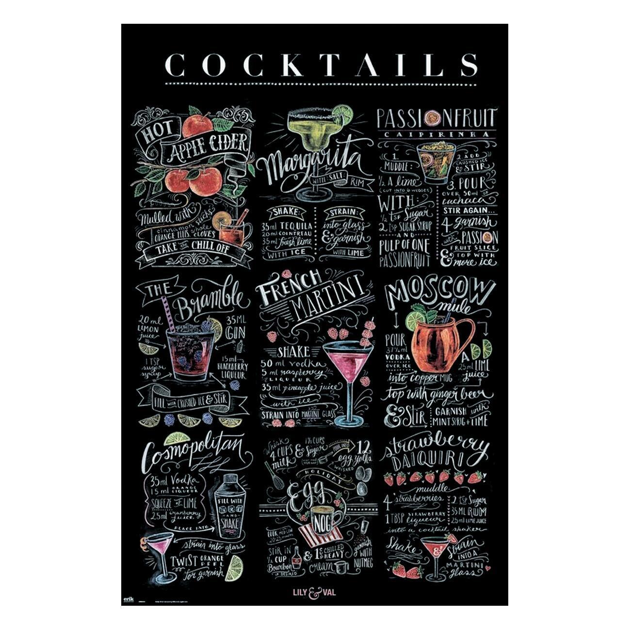 Poster Cocktails 61x91.5 cm - 1