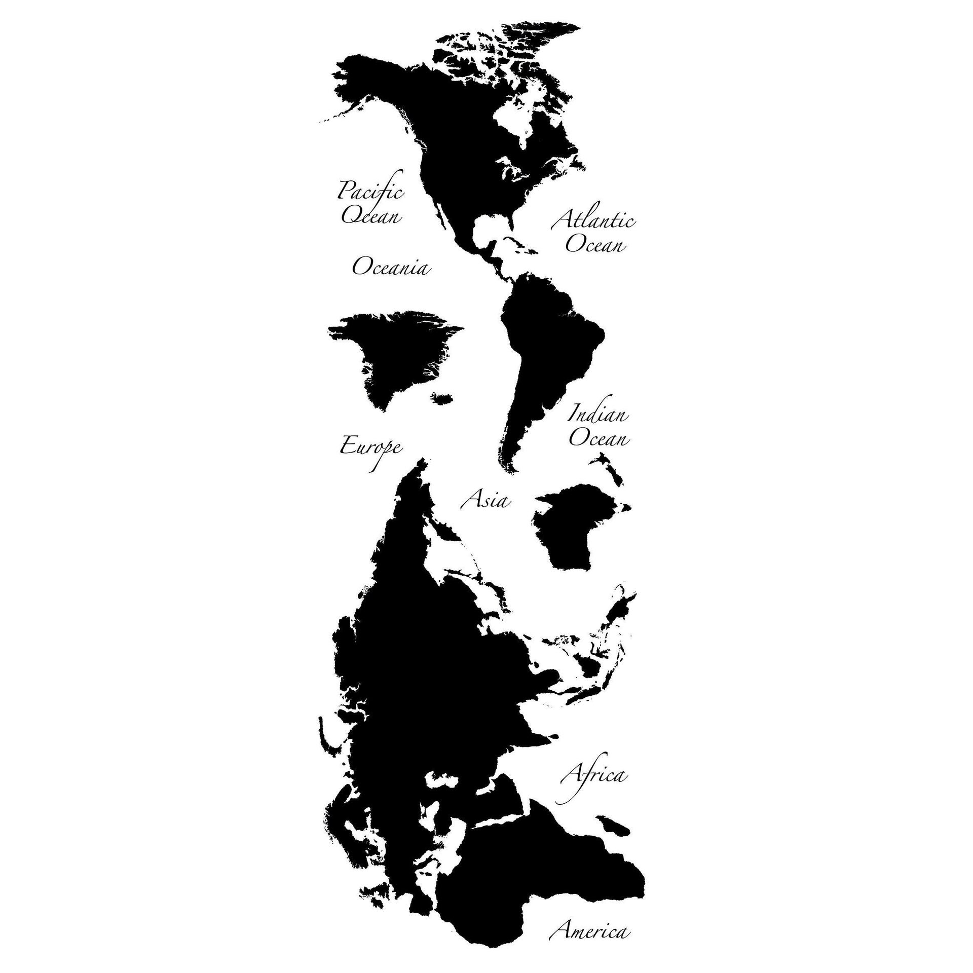 Sticker Giant Wall Worldmap 100x100 cm - 2