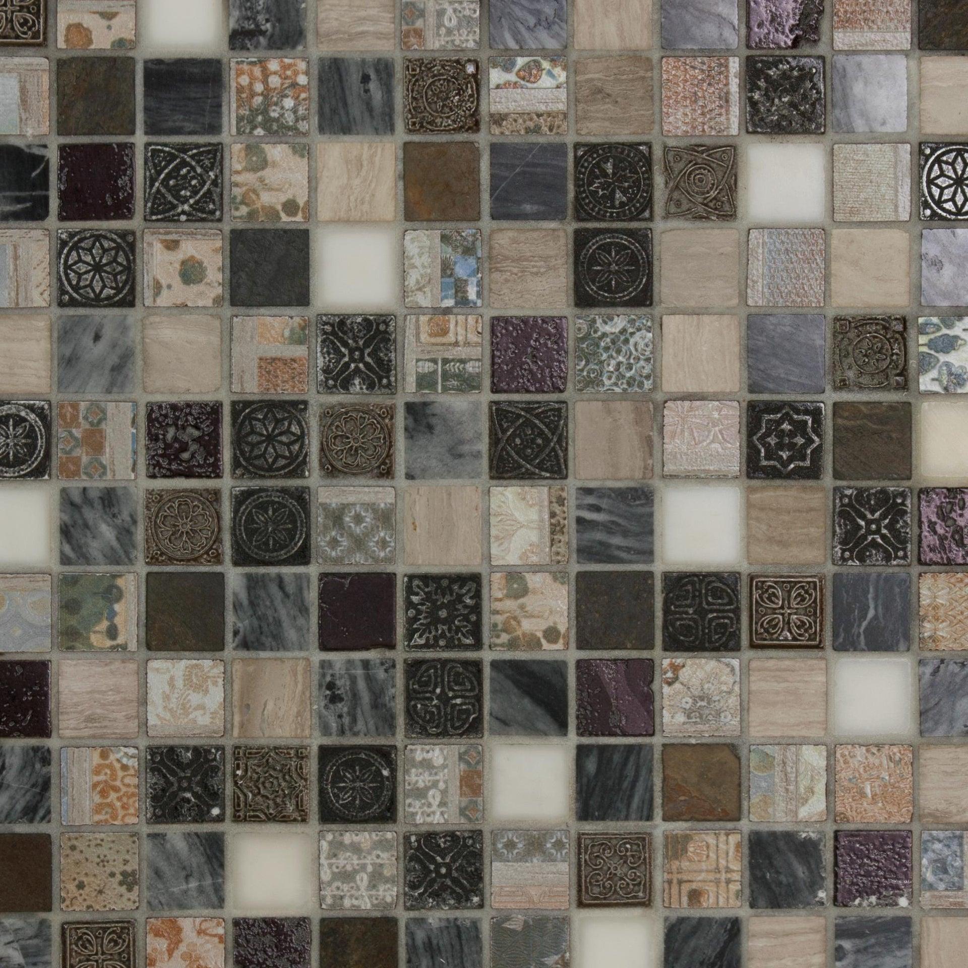 Mosaico Hydre Greyin H 30 x L 30 cm multicolore - 3