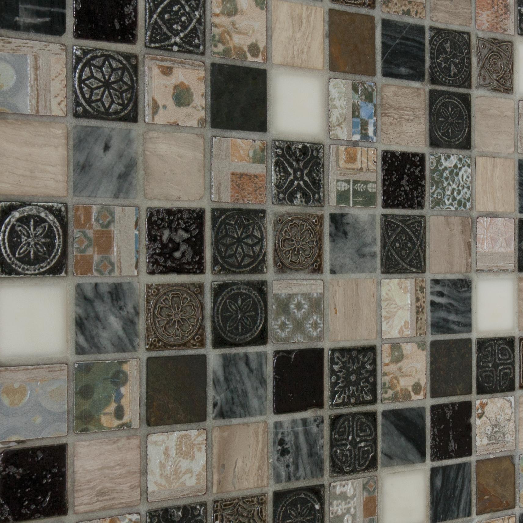 Mosaico Hydre Greyin H 30 x L 30 cm multicolore - 2