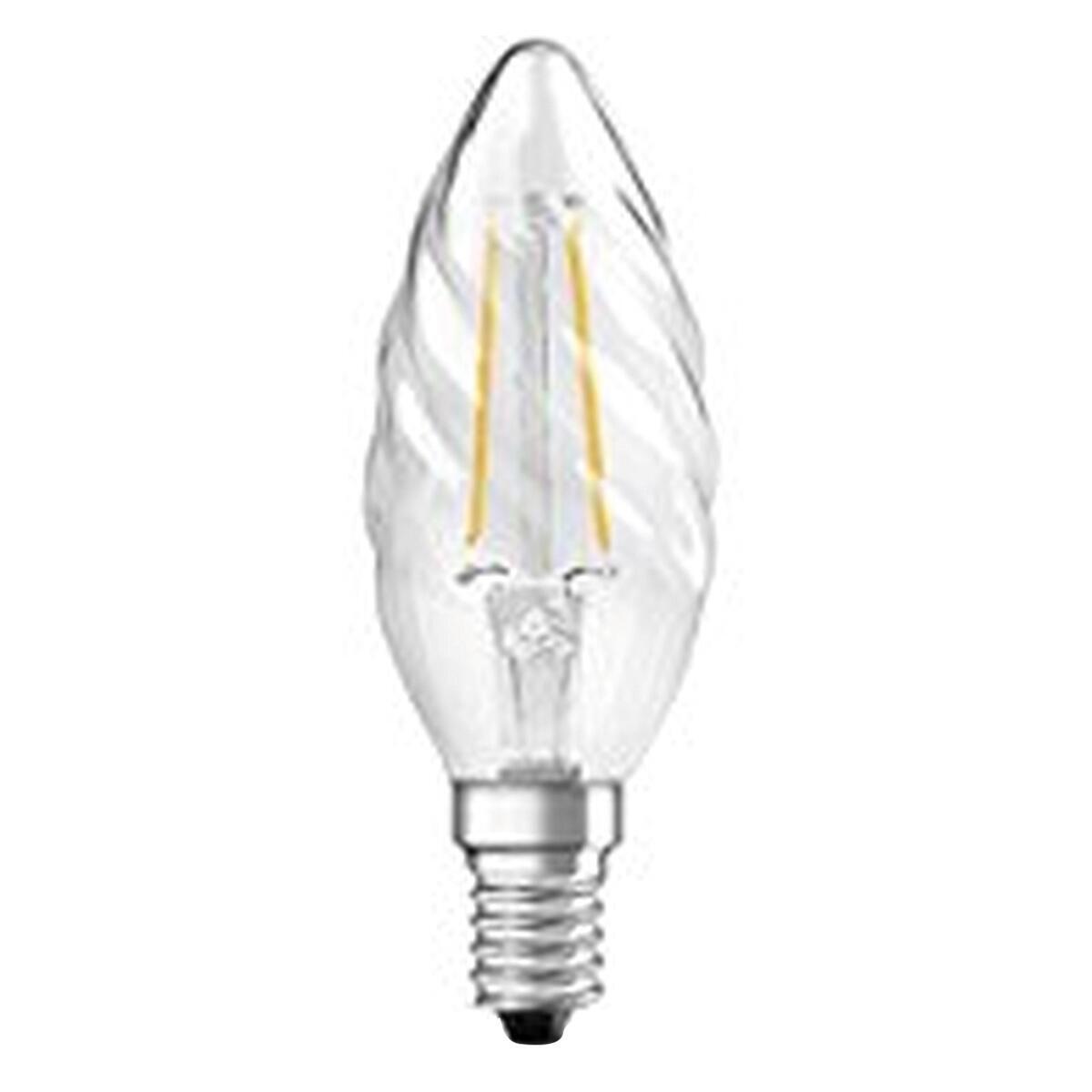 Lampadina LED filamento, E14, Torciglione, Trasparente, Luce calda, 3W=250LM (equiv 25 W), 320° , OSRAM - 1