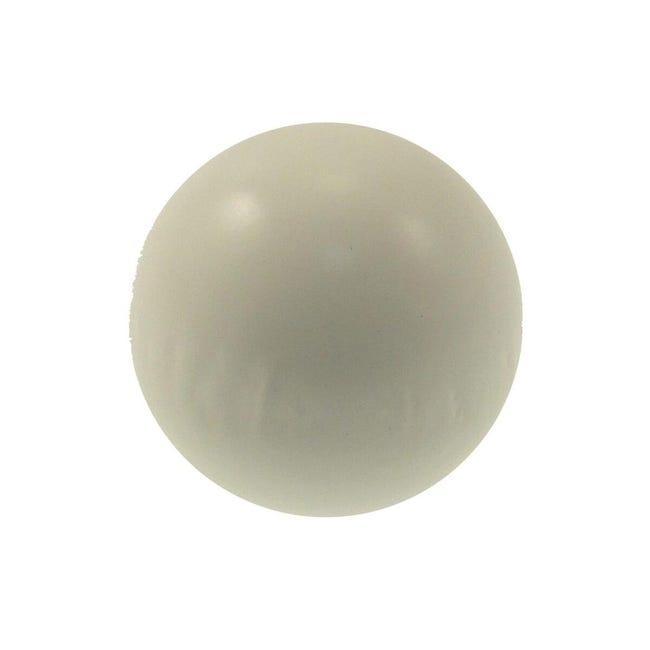 Finale per bastone Zip pomolo in legno Ø11mm bianco laccato Set di 2 pezzi - 1