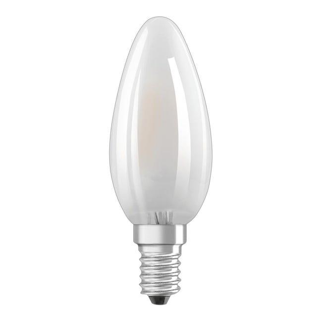 Lampadina LED filamento, E14, Oliva, Opaco, Luce calda, 5W=470LM (equiv 40 W), 300° , OSRAM - 1