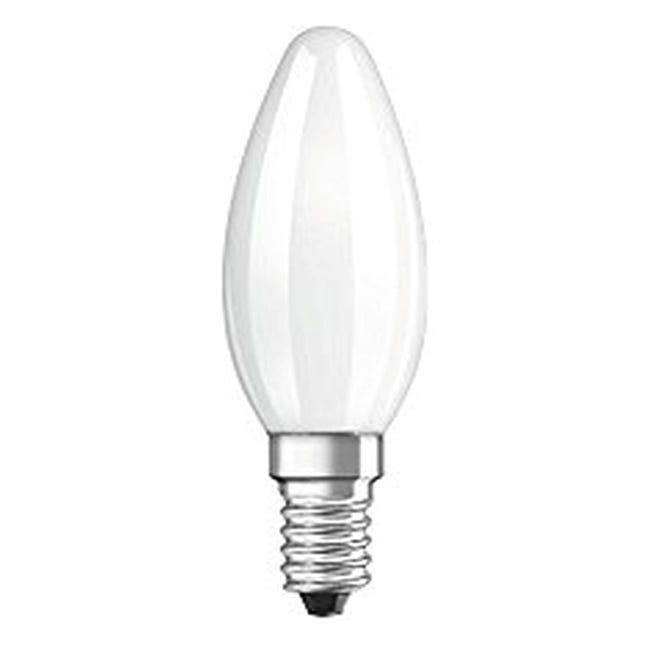 Lampadina LED filamento, E14, Oliva, Opaco, Luce fredda, 4W=470LM (equiv 40 W), 320° , OSRAM - 1