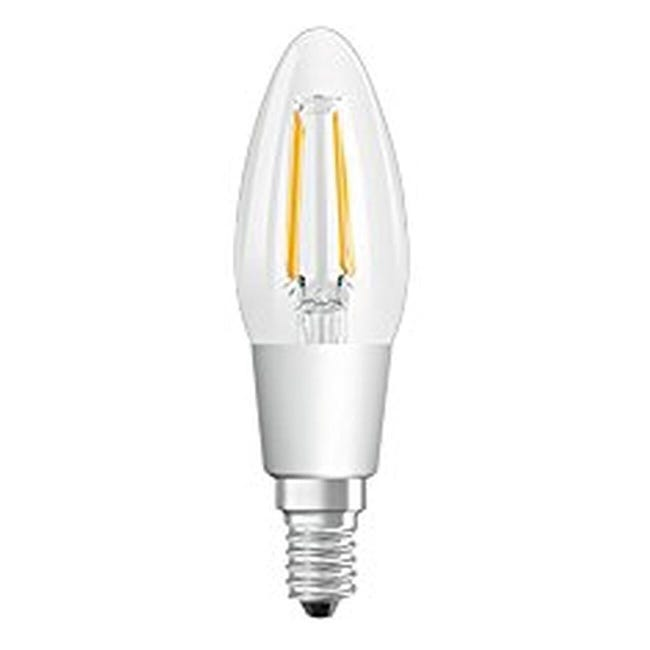 Lampadina LED, E14, Oliva, Trasparente, Luce calda, 4.5W=470LM (equiv 40 W), 300° , OSRAM - 1