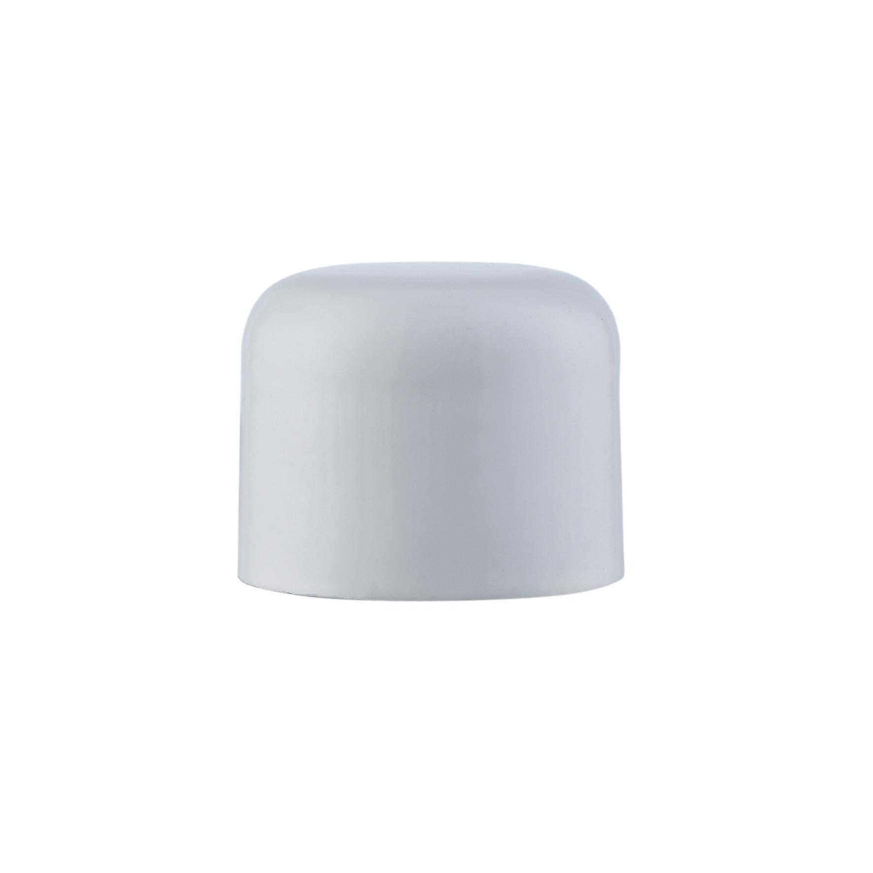 Finale per bastone Nilo tappo in metallo Ø20mm bianco lucido INSPIRE Set di 2 pezzi - 1