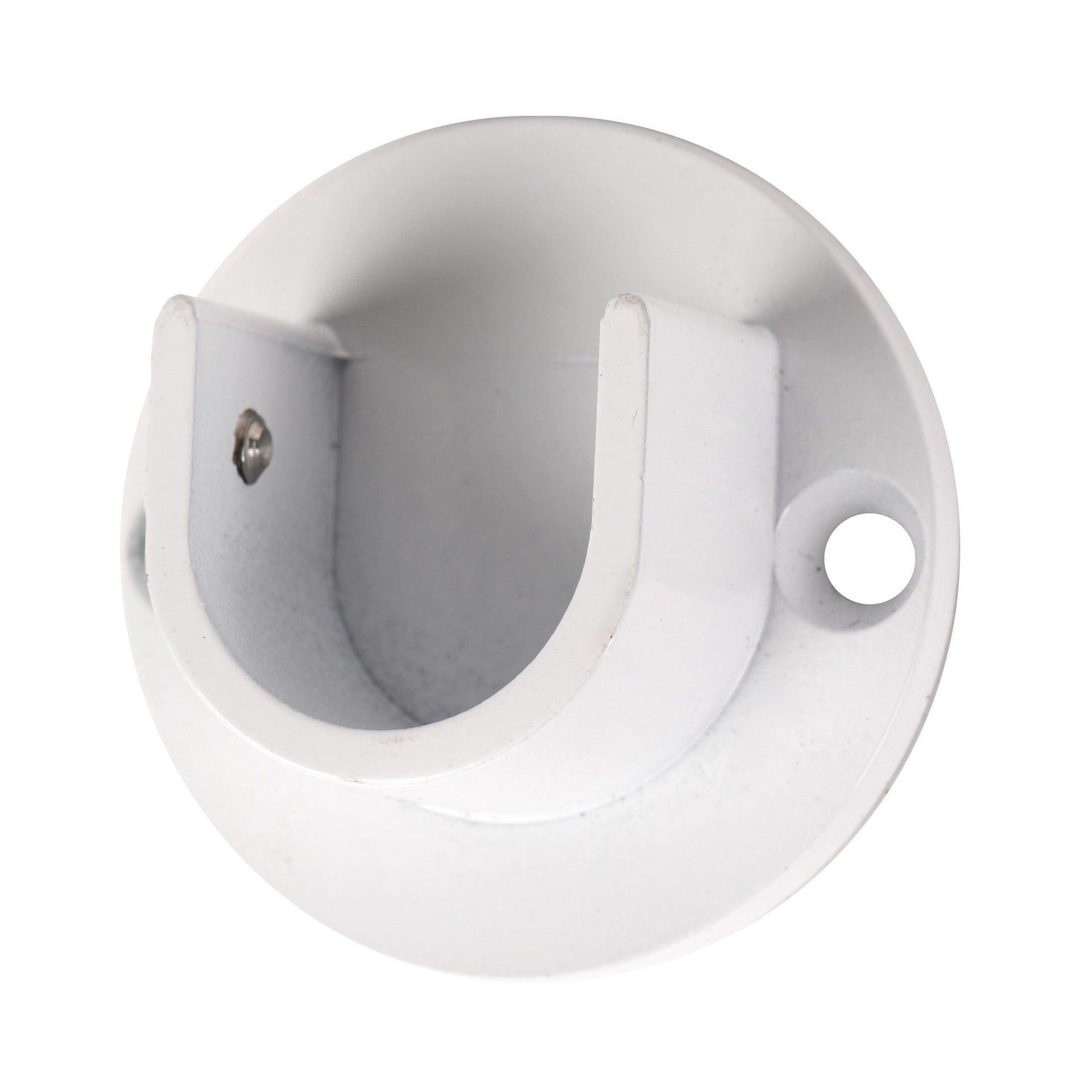 Finale per bastone Nilo tappo in metallo Ø20mm bianco lucido INSPIRE Set di 2 pezzi - 6