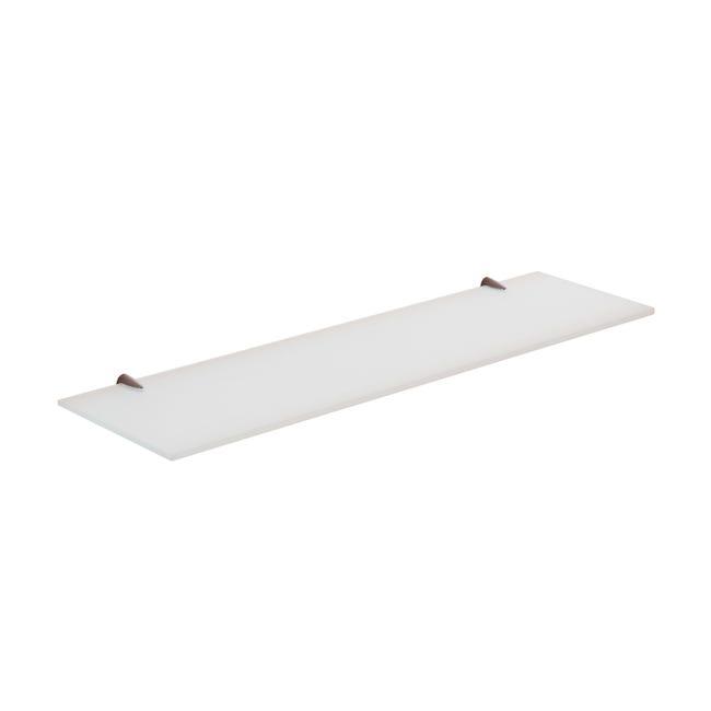 Mensola per bagno Artemis L 60 cm bianco - 1