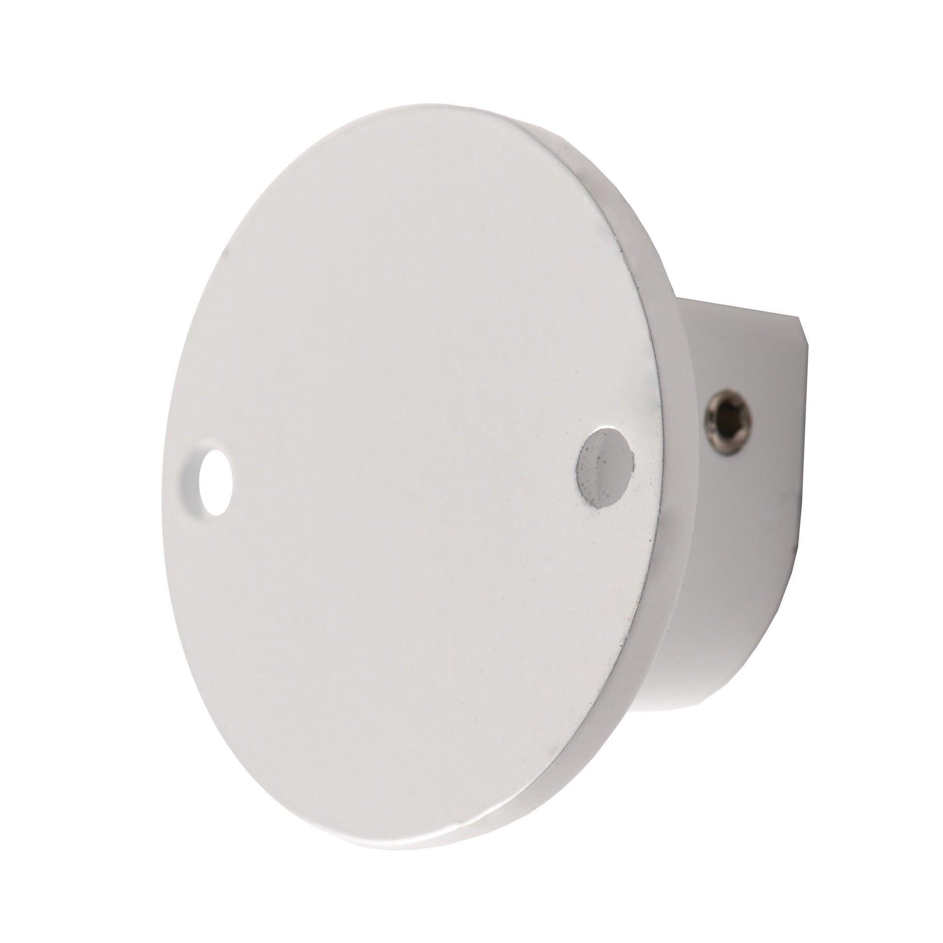 Finale per bastone Nilo tappo in metallo Ø20mm bianco lucido INSPIRE Set di 2 pezzi - 9