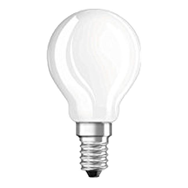Lampadina LED filamento, E14, Goccia, Opaco, Luce calda, 5W=470LM (equiv 40 W), 300° , OSRAM - 1
