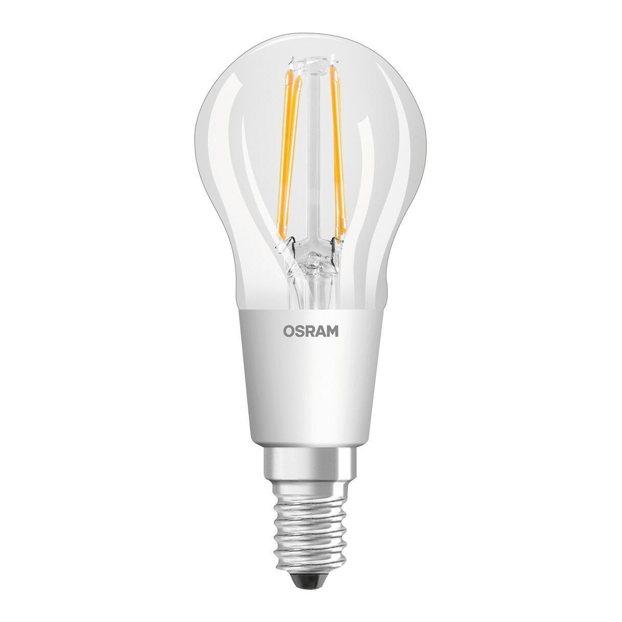Lampadina LED, E14, Sferico, Trasparente, Luce calda, 4.5W=470LM (equiv 40 W), 300° , OSRAM - 1