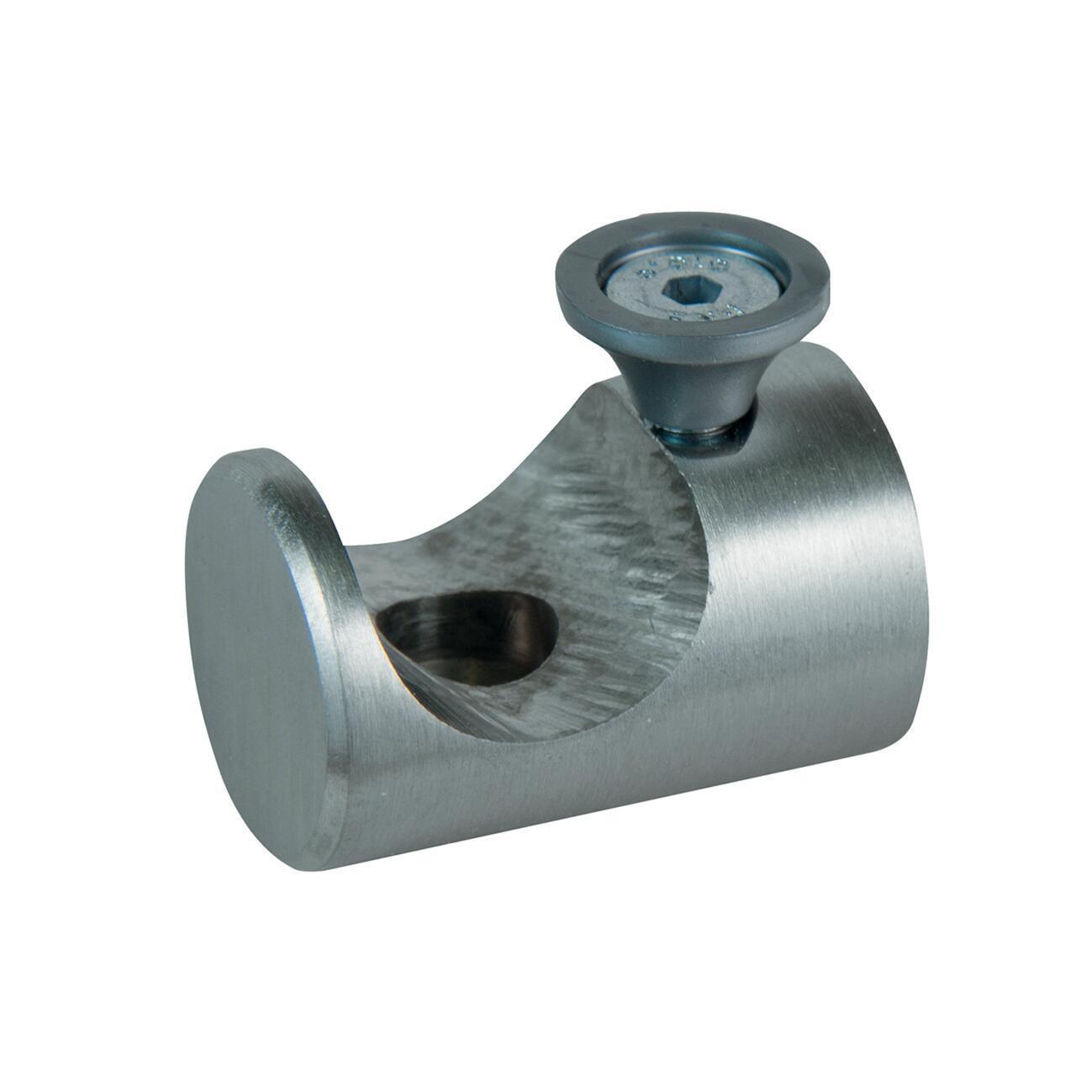 Supporto singolo aperto Ø20mm Time in metallo acciaio satinato 4cm, 2 pz