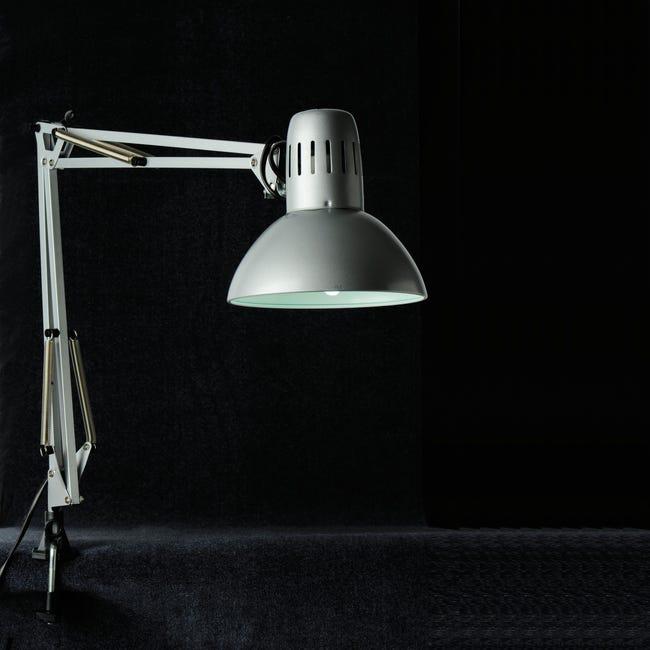 Lampada da scrivania Industriale Arquitecto grigio , in metallo, INSPIRE - 1
