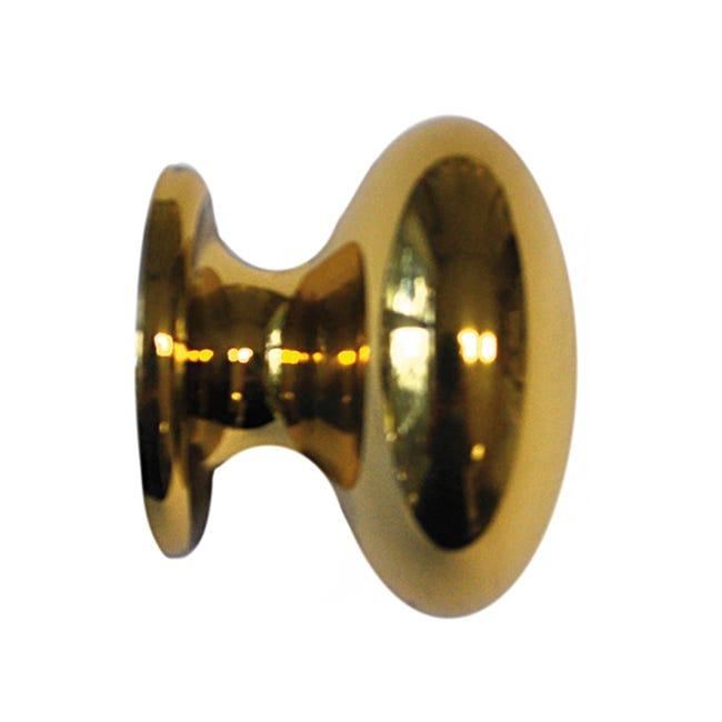 Finale per bastone Volga sfera in metallo Ø20mm ottone lucido - 1