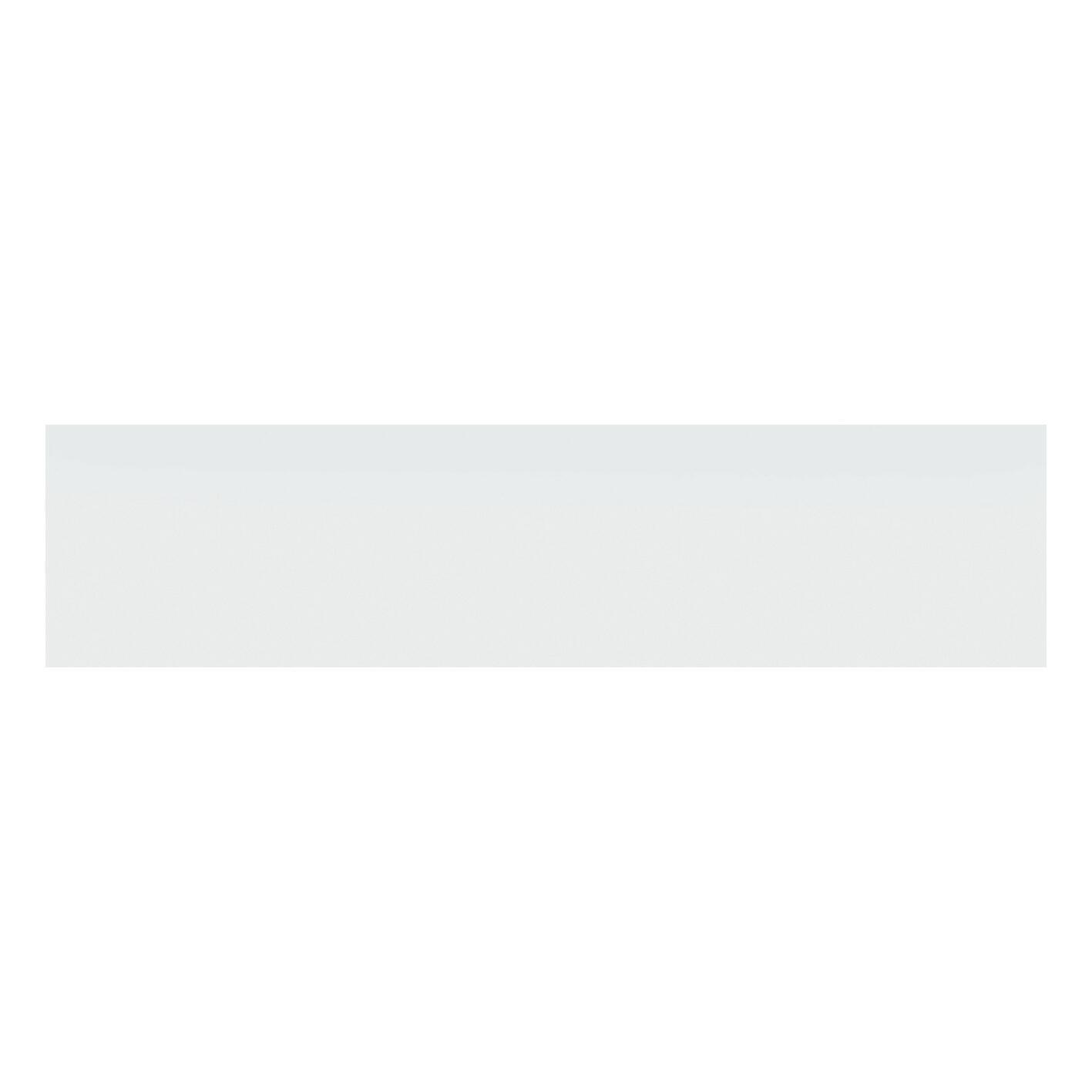 Battiscopa Matt H 8 x L 33.3 cm bianco