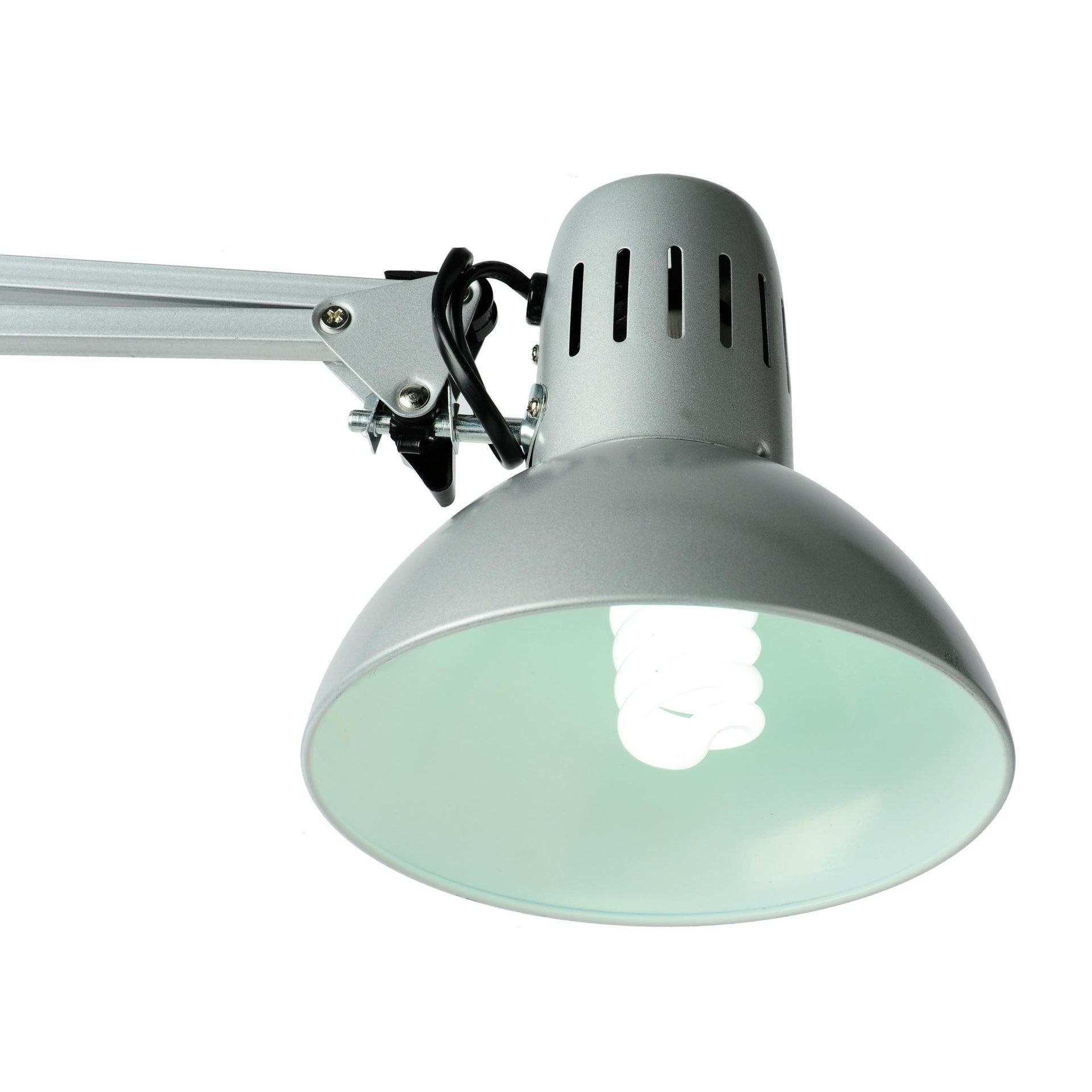 Lampada da scrivania Industriale Arquitecto grigio , in metallo, INSPIRE - 4