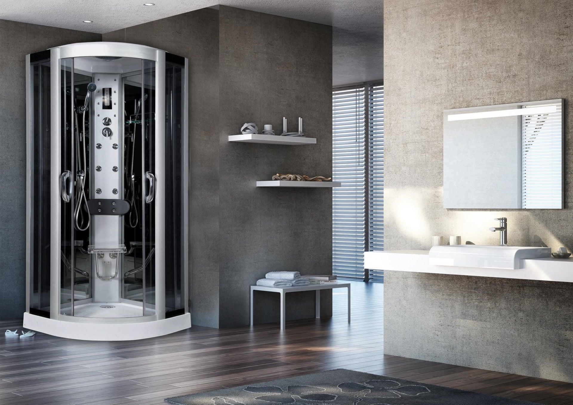 Cabina doccia idromassaggio semicircolare Eklis 90 x 90 cm - 2