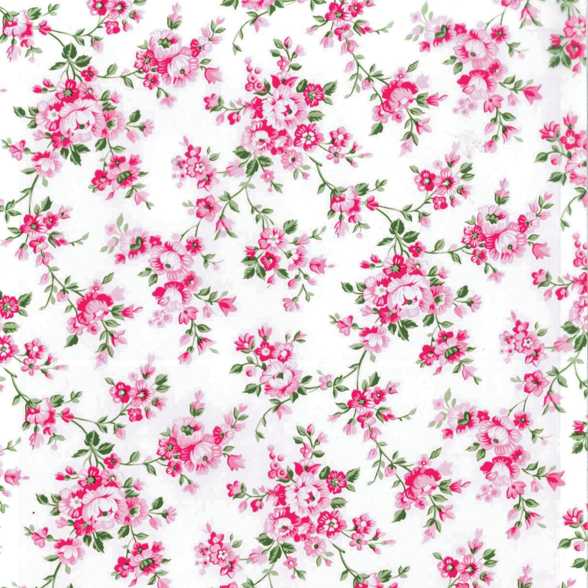Pellicola Roselline rosa 0.45x2 m