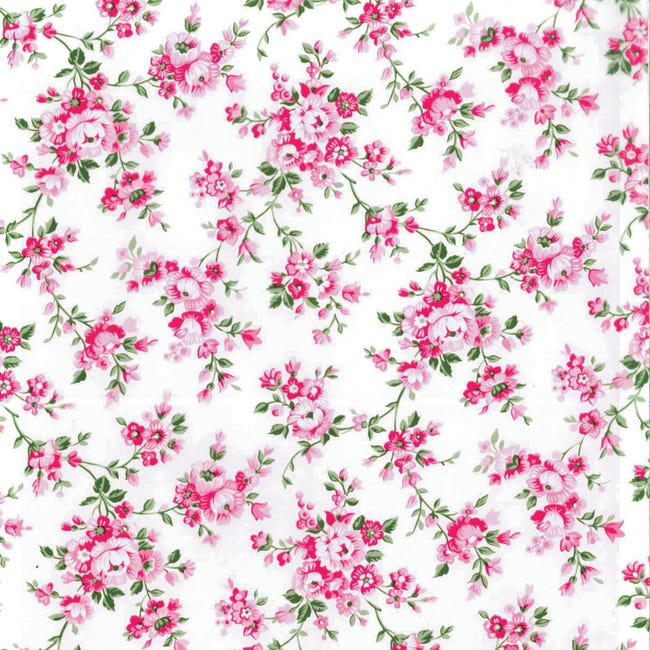 Pellicola Roselline rosa 0.45x2 m - 1