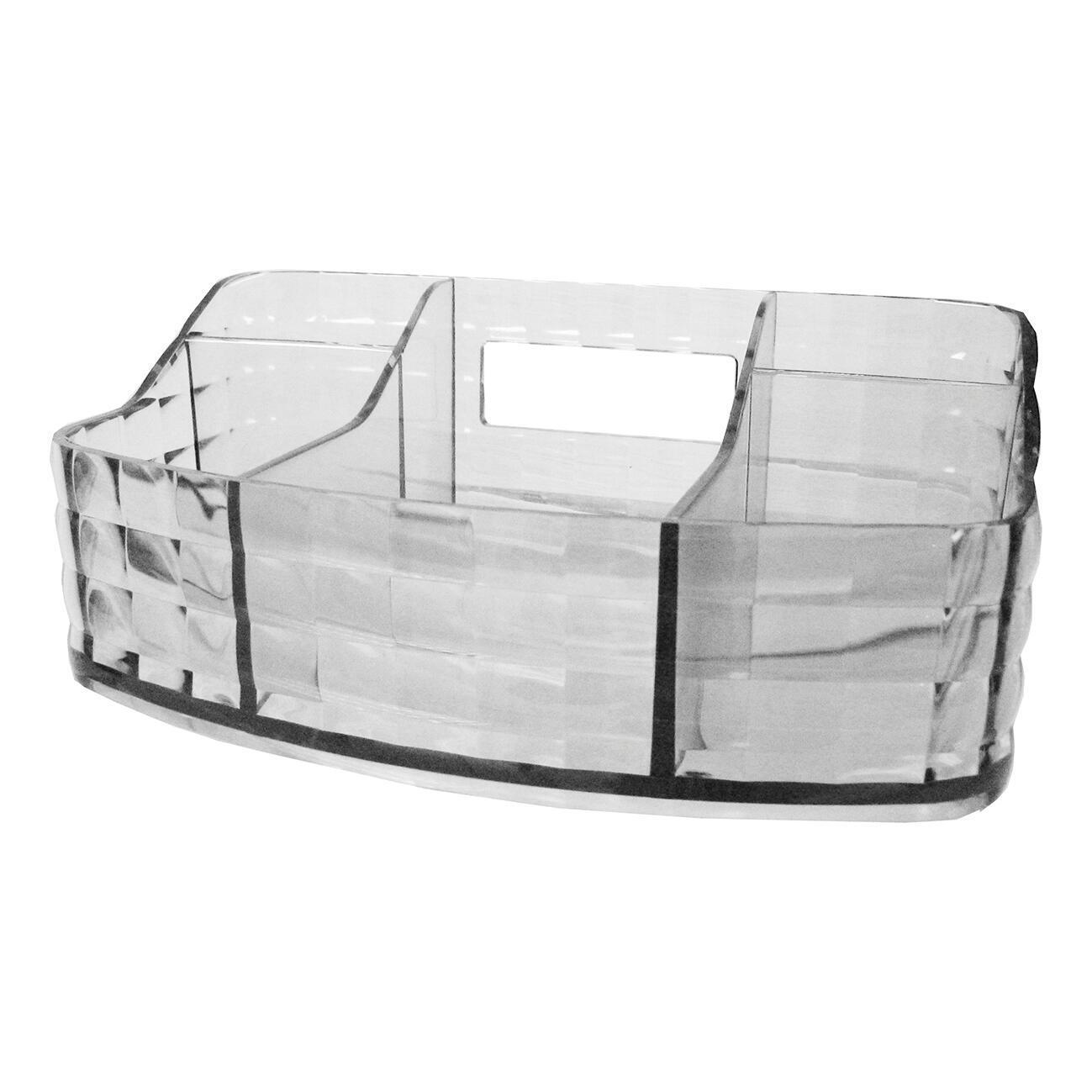 Organizer bagno Glady L 18.5 x H 7.5 cm trasparente