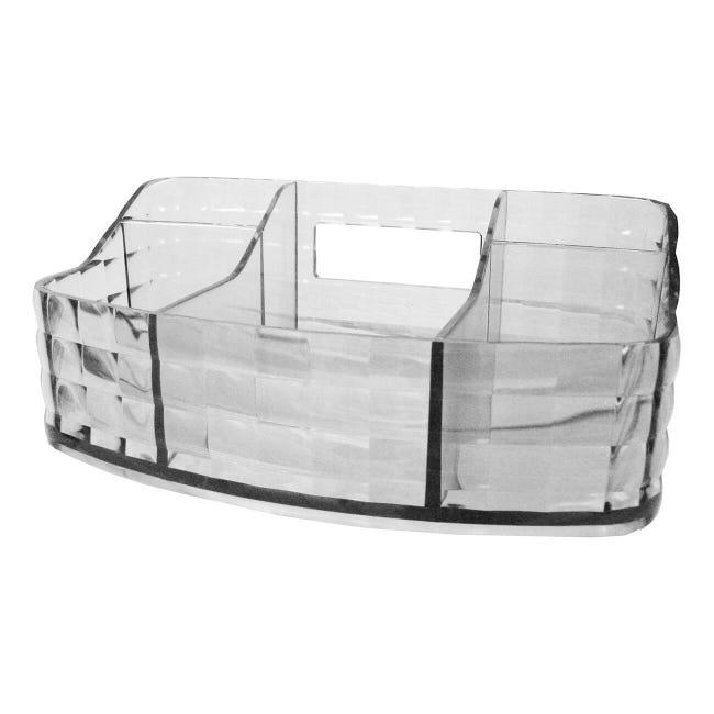 Organizer bagno Glady L 18.5 x H 7.5 cm trasparente - 1