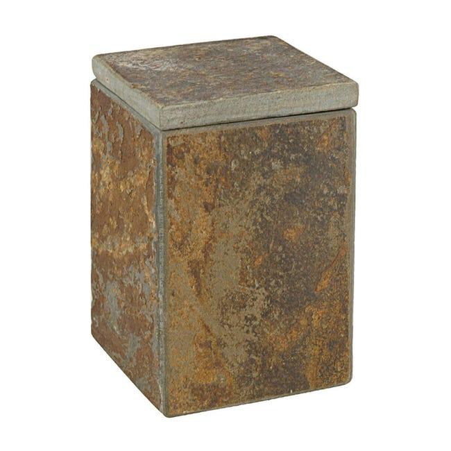 Porta cotone Heavy Rock in pietra naturale marrone - 1