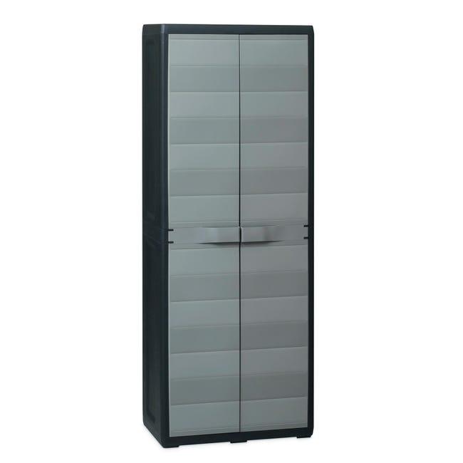 Armadio Elegance L 65 x P 38 x H 171 cm grigio e nero - 1
